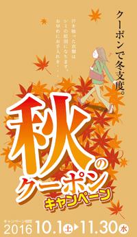 秋のクーポンキャンペーンチラシ